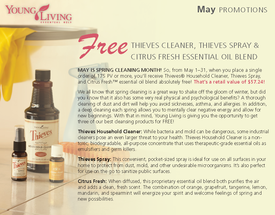Young Living May 2011 Product Promotions
